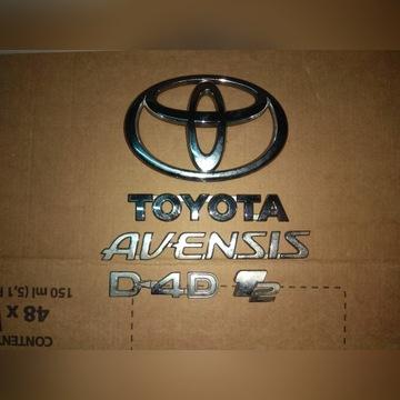 Toyota Avensis II T25 Znaczki Tylnej Klapy