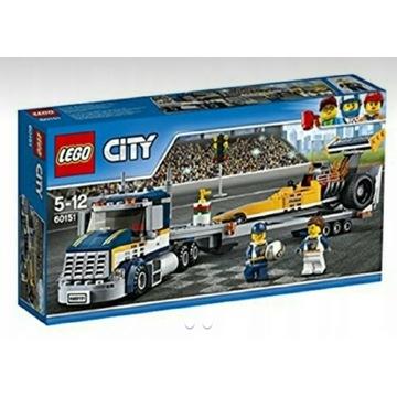 LEGO CITY 60151 TRANSPORTER DRAGSTERÓW