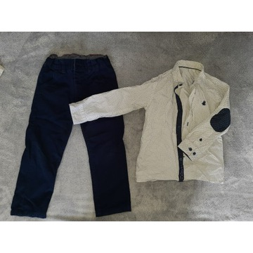 Elegancki komplet Coolclub 104cm  koszula spodnie