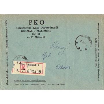 Malbork - Koperty listów polec. 1960-80