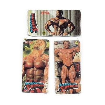 Naklejki z gum Ersa SuperMan 3 sztuki lata 90-te .