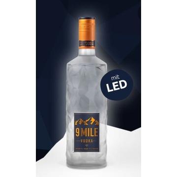 9 Mile vodka 0.7 L LED świecąca butelka