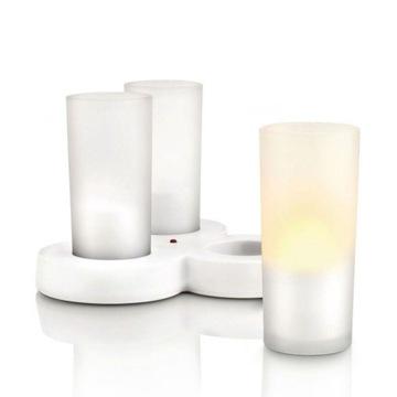 3 Świece LED Biały