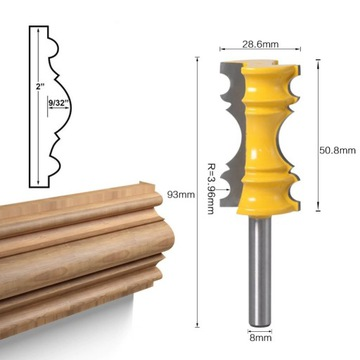 frez do drewna, 8 mm trzpień, wyysłka 24h