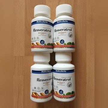 4 opakowania po 120 kap. RESWERATROL Medica Herbs