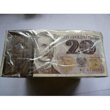 20zł 1982 seria AC paczka Bankowa 100szt