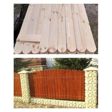 Sztachety drewniane 9x2cm ogrodzenie płot KOLOR