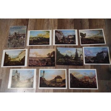 Pocztówki w obwolucie Canaletto + portret królewsk