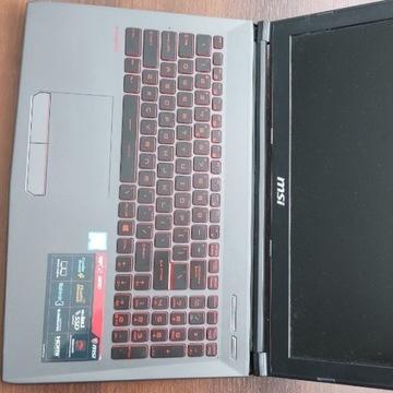 MSI GV62 i5-8300h, GTX 1050Ti, 256+1000 stan bdb