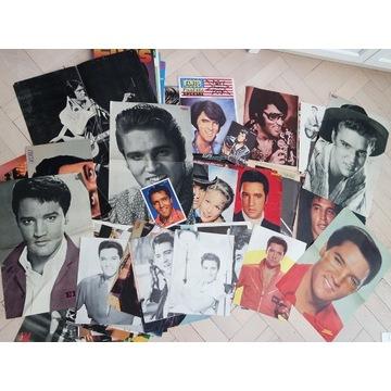 Plakaty gazety retro vintage Elvis czasopisma