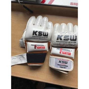 Rękawice Mamed Khalidov, pochodzące z gali KSW
