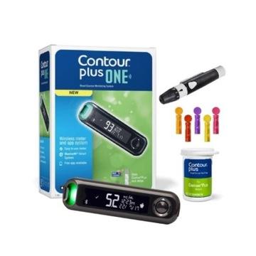 Glukometr Contour Plus One -- Nowy -- Cały zestaw