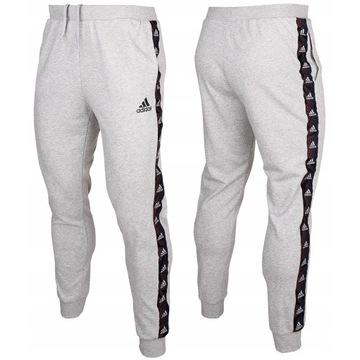 Spodnie dresowe męskie adidas sportowe roz.L