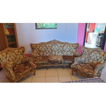 Antyk- oryginalna kanapa i dwa fotele do renowacji