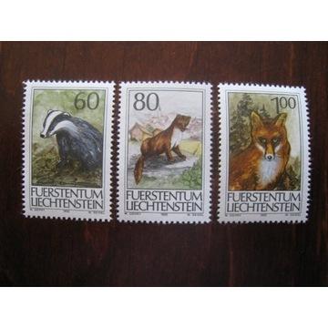 FAUNA 606-608** Liechtenstein 1993r