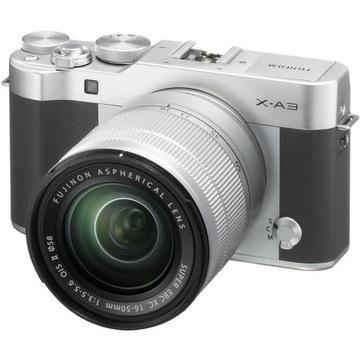 Fujifilm FinePix X-A3 + obiektyw 16-50 Srebrny