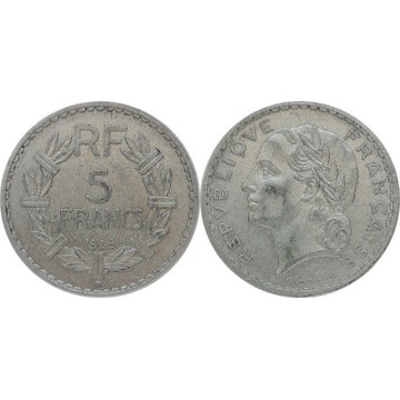 Francja 5 francs 1949 B, KM#888b.2