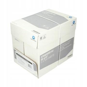 Karton Papieru A4 5 RYZ PO 500 SZTUK konica minolt