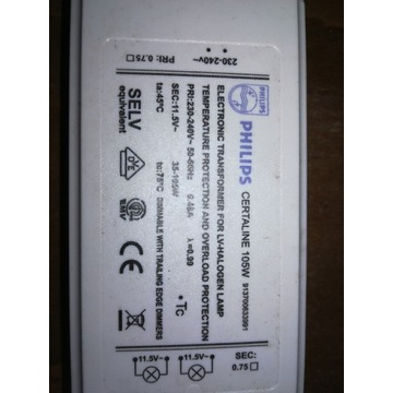 Zasilacz Certaline 105W 230-240V