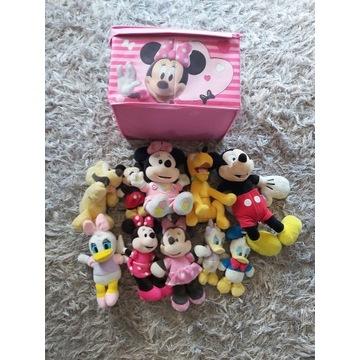 Pluszaki Myszki Mickey + skrzynia miękka Minnie
