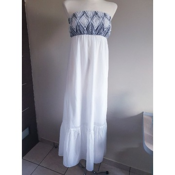 Calzedonia sukienka maxi długa suknia plażowa M