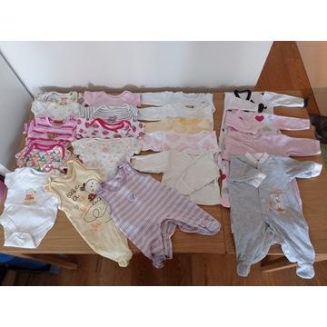 Ubranka dla noworodka zestaw 56 paczka dziewczynki