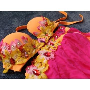 Przepiękny kwiatowy strój do Tańca Orientalnego