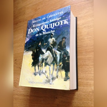 Don Quijote de la Mancha w j.hiszpańskim Cervantes