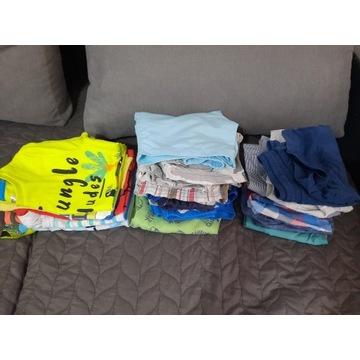 Ubrania letnie chłopięce 104/110 zestaw paczka