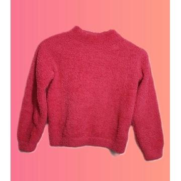 Sweterek top różowy PLUSZOWY