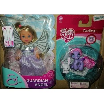 lalka Evi + koniki my little pony