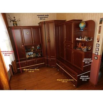 komplet, szafa narożna biurko komoda meblościanka