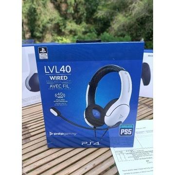 LVL40 Słuchawki PS5 PS4 PC Nowe! Nowa Gwarancja !