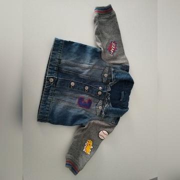 Katana jeansowa 74 dla chłopca wiosna bluza