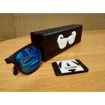Pokrowiec na okulary z ukrytym schowkiem