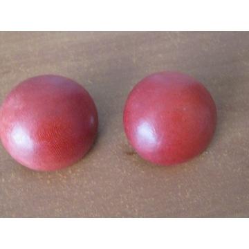 Unikalne klipsy drewniane -czerwone