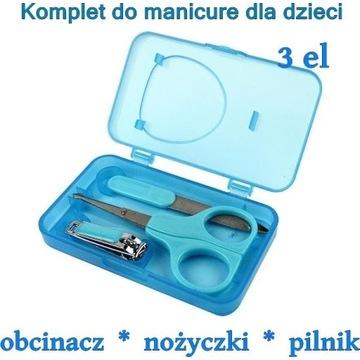 Komplet do manicure dla dzieci Donegal 3 elementy