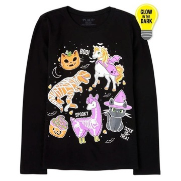 Childrens Place bluzeczka Halloween Glow 7-8lat
