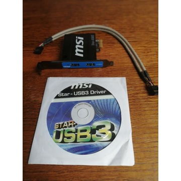 KONTROLER MSI STAR-USB3 2xUSB3 PCI-E x1