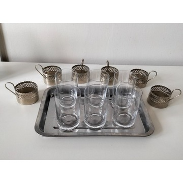 Koszyczki uchwyty na szklanki z tacą (14)