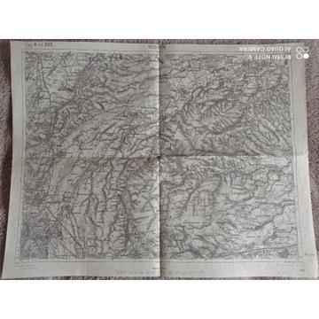 Mapa z 1914 r : Bolechów, Lachowice Zarz(1: 75000)
