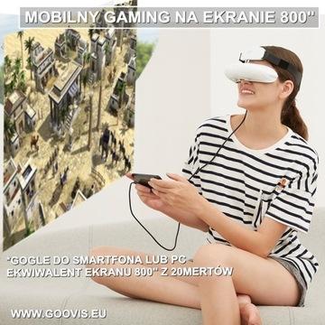 "GOOVIS Gaming ekran 800""VR lepiej niż GEAR OCULUS"