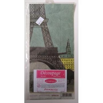 Papier ryżowy Stamperia 24x60 wieża Eiffla