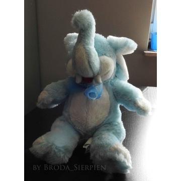 Niebieski słonik maskotka przytulanka pluszak