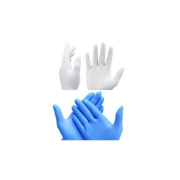 Rękawiczki nitrylowe bezpudrowe S M L 100 i 200szt