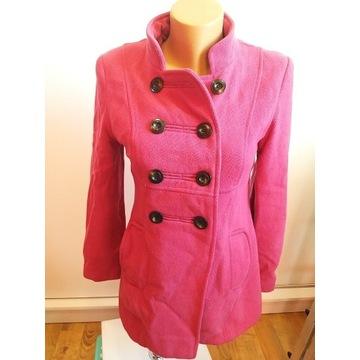 Różowa dłuższa kurtka 36