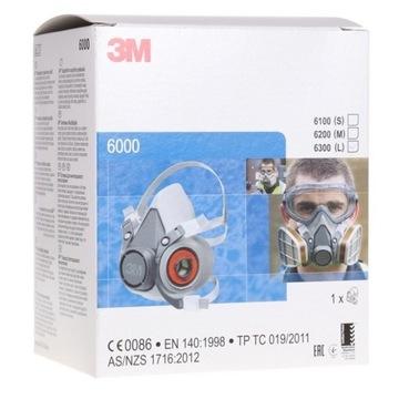 Maska 3M serii 6000 plus komplet 2 filtrów P3