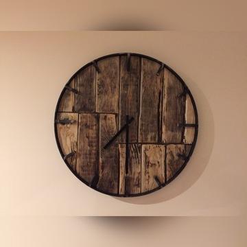 Zegar ścienny styl industrialny