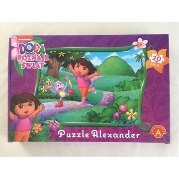 """Puzzle Alexander """"Dora poznaje świat"""" 20 MAXI"""