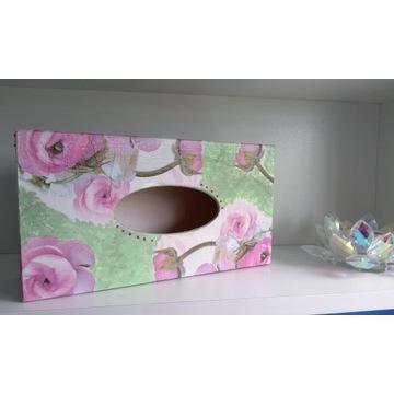 Chustecznik decoupage ręcznie malowany wys. od 8zł